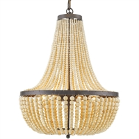 Picture for category Crystorama Lighting 608-FB Chandeliers Forged Bronze Metal and Wood Rylee