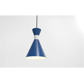Picture of Troy RLM Lighting 5DMC10MBLUWT-BC Pendants Blue and Gloss White Aluminum Mid Century