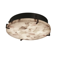 Picture for category Justice Design ALR-5547-DBRZ Semi Flush Dark Bronze Metal Alabaster Rocks!™
