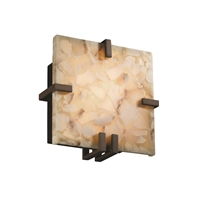Picture for category Justice Design ALR-5550-DBRZ Wall Sconces Dark Bronze Metal Alabaster Rocks!™