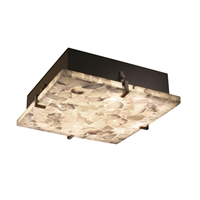 Picture for category Justice Design ALR-5557-DBRZ Semi Flush Dark Bronze Metal Alabaster Rocks!™