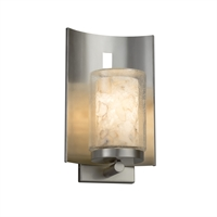 Picture for category Justice Design ALR-7591W-10-NCKL Wall Sconces Brushed Nickel Metal Alabaster Rocks!™