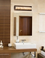 Picture for category Justice Design ALR-8631-DBRZ Bath Lighting Dark Bronze Metal Alabaster Rocks!™