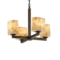 Picture for category Justice Design ALR-8829-30-DBRZ Chandeliers Dark Bronze Metal Alabaster Rocks!™