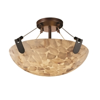 Picture for category Justice Design ALR-9611-35-DBRZ Semi Flush Dark Bronze Metal Alabaster Rocks!™