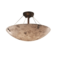 Picture for category Justice Design ALR-9651-35-DBRZ-F1 Semi Flush Dark Bronze Metal Alabaster Rocks!™