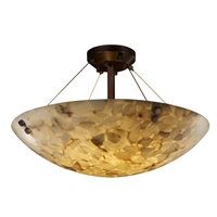 Picture for category Justice Design ALR-9652-35-DBRZ-F1 Semi Flush Dark Bronze Metal Alabaster Rocks!™