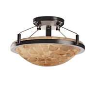 Picture for category Justice Design ALR-9680-35-NCKL Semi Flush Brushed Nickel Metal Alabaster Rocks!™