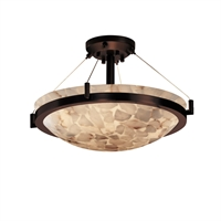 Picture for category Justice Design ALR-9681-35-DBRZ Semi Flush Dark Bronze Metal Alabaster Rocks!™