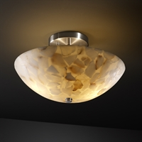 Picture for category Justice Design ALR-9690-35-NCKL Semi Flush Brushed Nickel Metal Alabaster Rocks!™