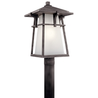Picture for category RLA Kichler RL-438775 Outdoor Post Light Weathered Zinc Aluminum Beckett
