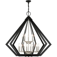 Picture for category Livex Lighting 40928-04 Pendants 42in Black Steel 15-light