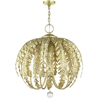 Picture for category Livex Lighting 46235-28 Chandeliers 26in Winter Gold Steel 5-light
