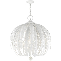 Picture for category Livex Lighting 46235-60 Chandeliers 26in Antique White Steel 5-light