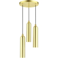 Picture for category Livex Lighting 46753-12 Pendants 13in Satin Brass Steel 3-light