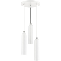 Picture for category Livex Lighting 46753-69 Pendants 13in Shiny White Steel 3-light