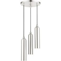 Picture for category Livex Lighting 46753-91 Pendants 13in Brushed Nickel Steel 3-light