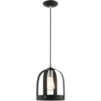 Picture for category Livex Lighting 49642-14 Mini Pendants 9in Textured Black Steel 1-light