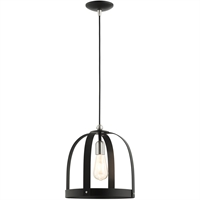 Picture for category Livex Lighting 49643-14 Pendants 12in Textured Black Steel 1-light