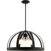 Picture for category Livex Lighting 49645-14 Chandeliers 24in Textured Black Steel 5-light