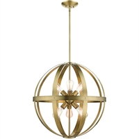 Picture for category Livex Lighting 49646-01 Chandeliers 24in Antique Brass Steel 6-light