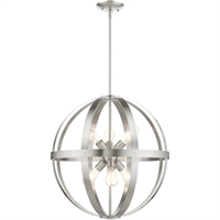 Picture for category Livex Lighting 49646-91 Chandeliers 24in Brushed Nickel Steel 6-light