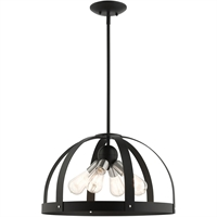 Picture for category Livex Lighting 49647-14 Chandeliers 20in Textured Black Steel 4-light