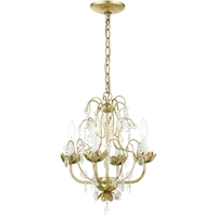 Picture for category Livex Lighting 8193-28 Chandeliers 14in Winter Gold Steel 4-light