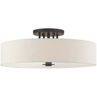 Picture for category RLA Livex RL-465079 Semi Flush English Bronze Steel Meridian