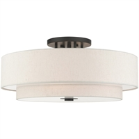 Picture for category RLA Livex RL-465081 Semi Flush English Bronze Steel Meridian