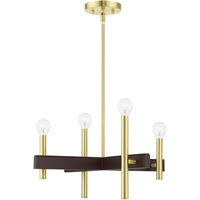 Picture for category RLA Livex RL-465229 Chandeliers Satin Brass Steel Denmark