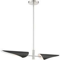 Picture for category RLA Livex RL-465247 Island Lighting Brushed Nickel Steel Capistrano