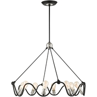 Picture for category RLA Livex RL-465263 Chandeliers Textured Black with Brushed Nickel Accents Steel Archer