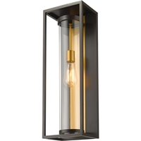 Picture for category World of Style WOS419589 Wall Sconces Deep Bronze and Outdoor Brass Aluminum Restaban