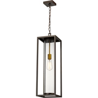 Picture for category World of Style WOS419591 Outdoor Wall Sconces Deep Bronze and Outdoor Brass Aluminum Restaban