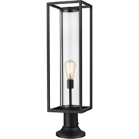 Picture for category World of Style WOS419597 Outdoor Post Light Black Aluminum Restaban