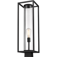 Picture for category World of Style WOS419604 Outdoor Post Light Black Aluminum Restaban