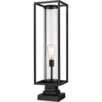Picture for category World of Style WOS419606 Outdoor Post Light Black Aluminum Restaban