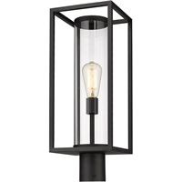 Picture for category World of Style WOS419614 Outdoor Post Light Black Aluminum Restaban