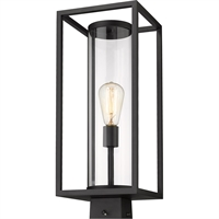 Picture for category World of Style WOS419617 Outdoor Post Light Black Aluminum Restaban