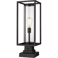 Picture for category World of Style WOS419619 Outdoor Post Light Black Aluminum Restaban