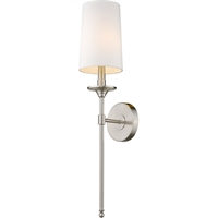 Picture for category World of Style WOS419754 Wall Sconces Brushed Nickel Steel Becrux