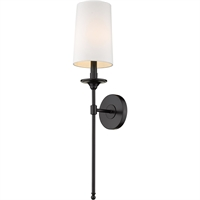 Picture for category World of Style WOS419755 Wall Sconces Matte Black Steel Becrux