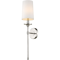 Picture for category World of Style WOS419756 Wall Sconces Polished Nickel Steel Becrux