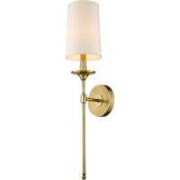 Picture for category World of Style WOS419757 Wall Sconces Rubbed Brass Steel Becrux